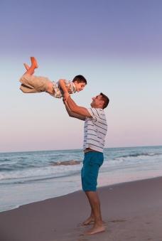 Sunset Beach Family Photoshoot Megan Schiraldi Photography