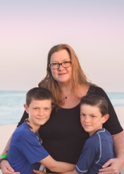 Mom and Sons Sunset Beach Session